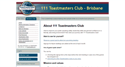 Preview of 111toastmasters.org