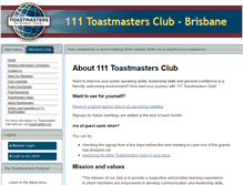 Tablet Preview of 111toastmasters.org